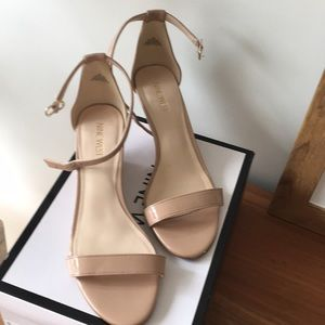 Nude Nine West POSEN Wedge Sandals